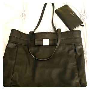Authentic Kate Spade Black Leather Set